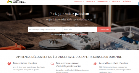 Startup <h3>1001-Ateliers.com</h3> France French Tech