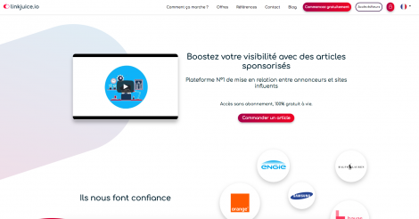 Startup <h3>LinkJuice.io</h3> France French Tech