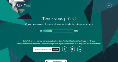 Startup <h3>CertyTech</h3> France French Tech