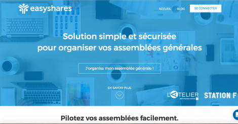 Startup <h3>easyshares.io</h3> France French Tech