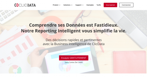 Startup <h3>ClicData</h3> France French Tech