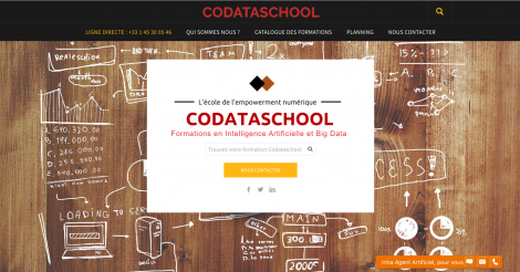 Startup <h3>Codataschool</h3> France French Tech