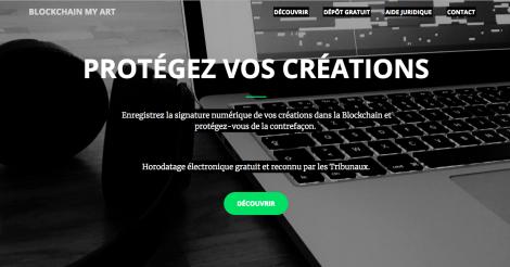 Startup <h3>BlockchainMyArt</h3> France French Tech