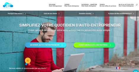 Startup <h3>Mon-AutoEntreprise.fr</h3> France French Tech