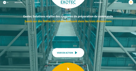Startup <h3>Exotec Solutions</h3> France French Tech
