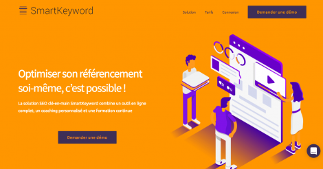 Startup <h3>SmartKeyword</h3> France French Tech