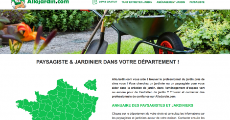 Startup <h3>AlloJardin.com</h3> France French Tech