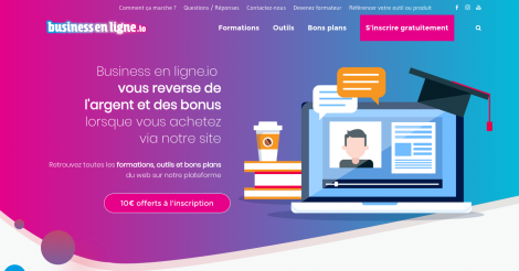 Startup <h3>Business en ligne.io </h3> France French Tech