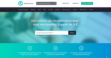 Startup <h3>5euros.com</h3> France French Tech