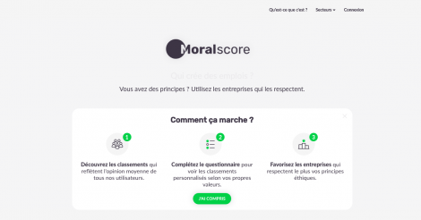 Startup <h3>Moralscore.org</h3> France French Tech