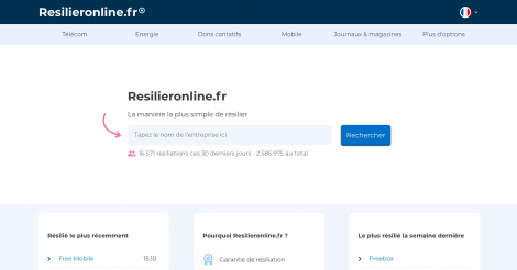 Startup <h3>Resilieronline.fr</h3> France French Tech