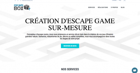 Startup <h3>Escape Box</h3> France French Tech