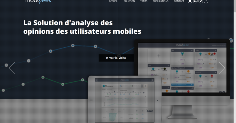 Startup <h3>Moodpeek By Open </h3> France French Tech