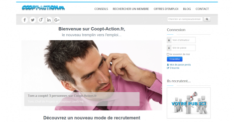 Startup <h3>Coopt-Action.fr</h3> France French Tech