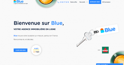 Startup <h3>Blue</h3> France French Tech
