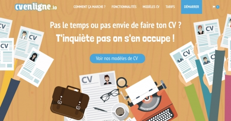 Startup <h3>CV EN LIGNE.io</h3> France French Tech