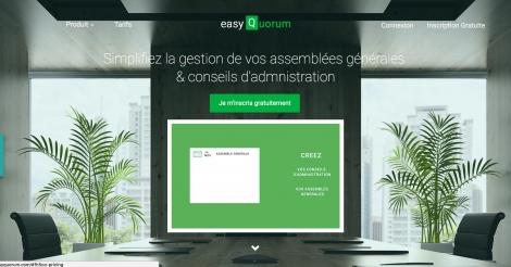Startup <h3>easyQuorum</h3> France French Tech