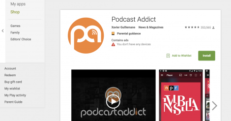 Startup <h3>Podcast Addict</h3> France French Tech