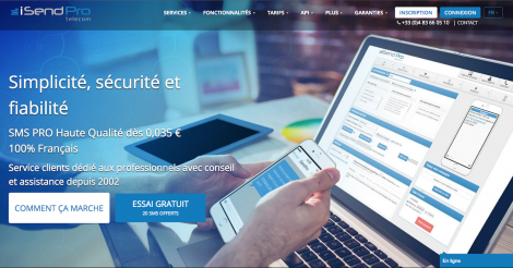 Startup <h3>iSendPro Telecom</h3> France French Tech